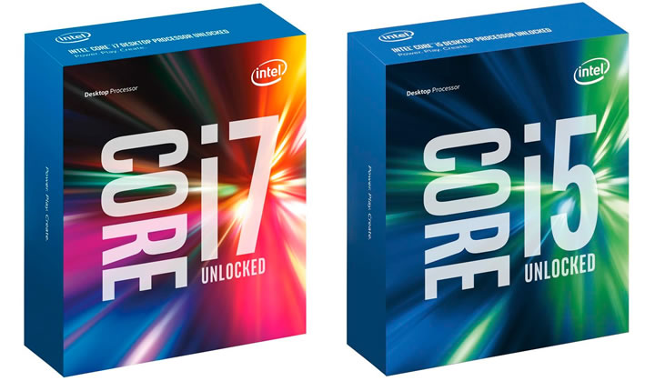Intel ya cuenta con la sexta generación de i5 e i7 de cuatro núcleos, basados en la arquitectura Skylake de 14 nanómetros. Créditos:Intel