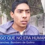 Carlos Sánchez, bombero del lugar y testigo, relató todo lo sucedido la noche anterior y dio testimonio de lo acontecido. Crédito: exploracionovni.com