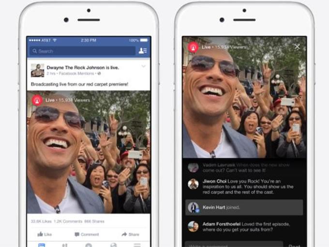 """También se podrá comentar, compartir o pulsar el botón """"me gusta"""" durante la transmisión. Foto: Facebook. Créditos:Excelsior"""