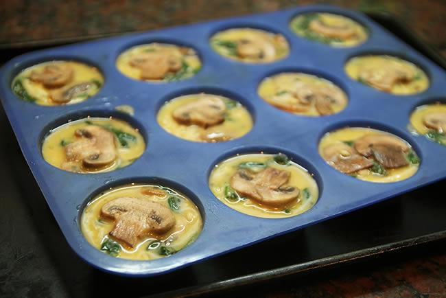 Muffins de espinaca y champiñones. Créditos:labioguia.com