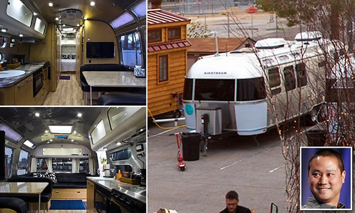 Tony Hsieh vive en un tráiler a Airstream Village, un parking de caravanas que posee en la misma ciudad. Créditos: dailymail.co.uk