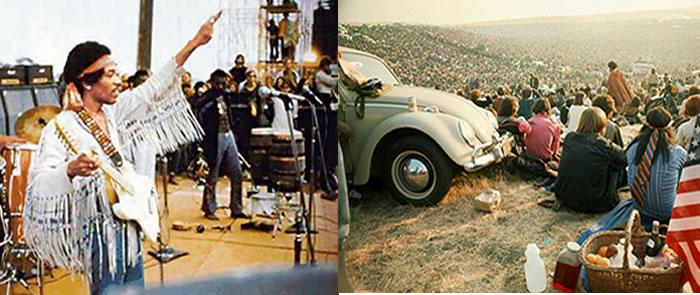 El festival de Woodstock de 1969 fue seguramente uno de los eventos más representativos por el ingenio colectivo acarreado a la música de los años 60 y al movimiento flower power. En éste contexto, la actuación de Jimi Hendrix se convirtió en un verdadero y propio símbolo del festival. Créditos:worn75.tumblr.com