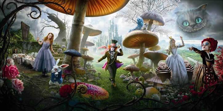 'Alicia en el País de las Maravillas' de Tim Burton. Créditos: Walt Disney Pictures.