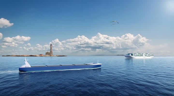 Rolls-Royce ha sido designado para dirigir el proyecto, que podría allanar el camino para barcos no tripulados autónomos en un futuro no muy lejano. Ilustración: Rolls-Royce
