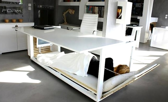 Escritorio para dormir siesta. Créditos: Studio NL