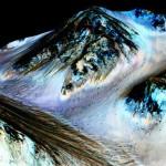 El descubrimiento de la NASA respecto al agua líquida en Marte se produjo en el cráter Hale. Créditos:NASA