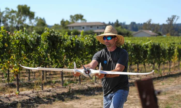 El uso de drones en la agricultura es cada vez más frecuente.Créditos:Sally French,3D Robotics