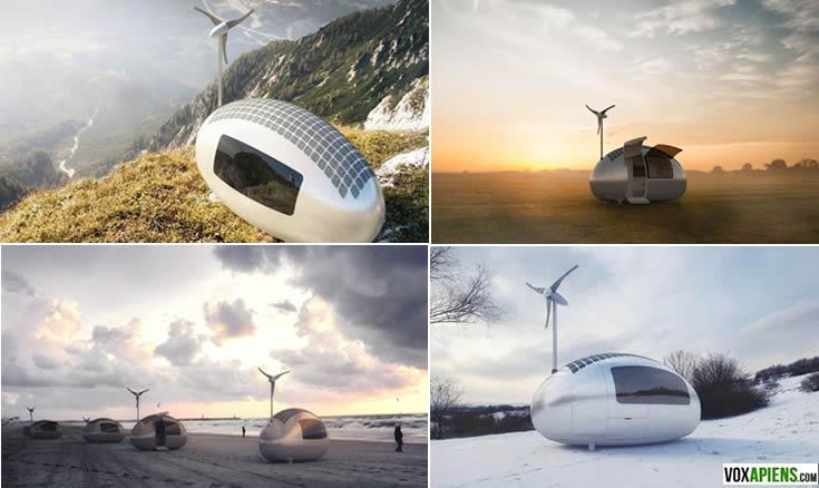 La ecocápsula permite a su propietario permite pasar los días en cualquier lugar del mundo. Créditos:ecocapsule.sk