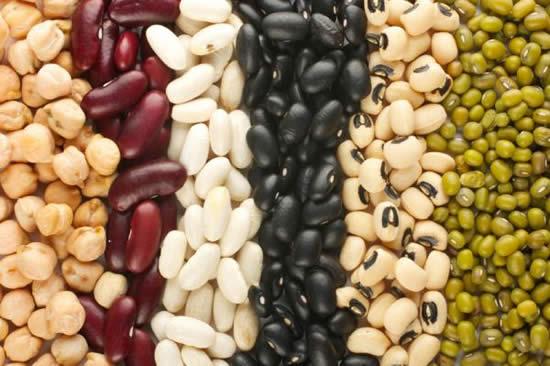 Los frijoles, lentejas, garbanzos, arvejas, maní, soja y sus derivados proporcionan una buena cantidad de proteína