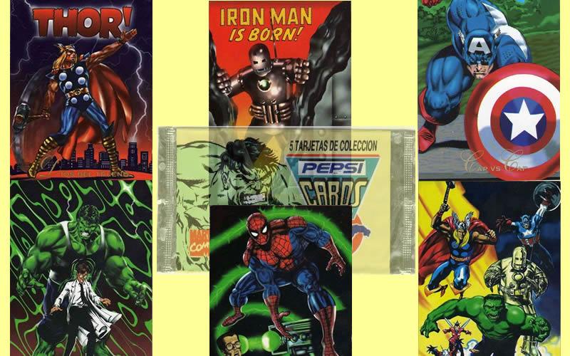 ¡Cómo no recordar las Pepsi Cards de superhéroes de Marvel!