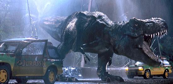 T-rex Jurassic Park. Créditos:Universal Studios.