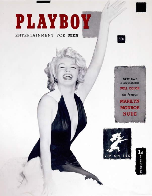 La primera portada en 1953 tenía a Marilyn Monroe ícono de sensualidad en esa época.