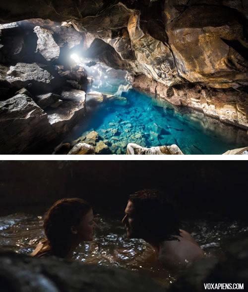 cueva de Jon e Ygritte