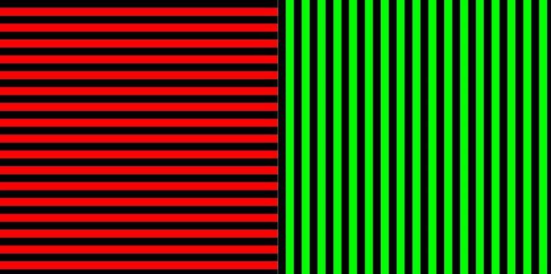 Estas son las dos imágenes de inducción que pueden desencadenar el efecto, si alterna entre mirar fijamente a sus centros durante unos minutos. Fredifortakeoff / Wikimedia