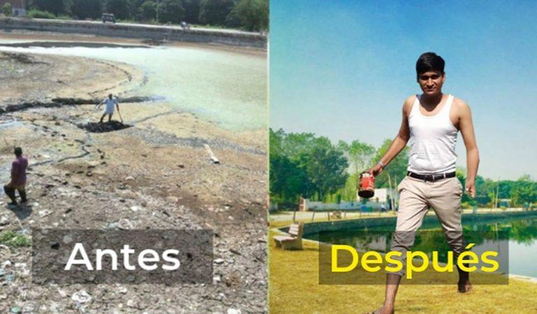 Hombre salva lagos devastados por la contaminación