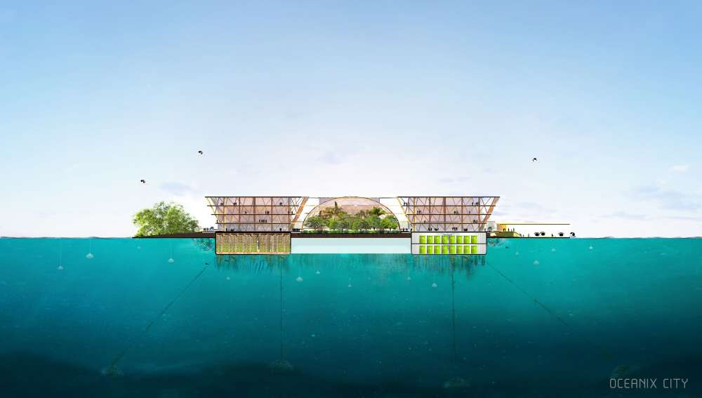 ONU revela un concepto de ciudad flotante que podría albergar a 10.000 personas durante el cambio climático